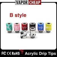 acrylic - DHL Delivery puffs Glass Globe drip tips Acrylic Stainless Wide Drip Tip puff puff Driptips VS Aspire Triton Subtank Mini V2
