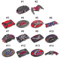 Wholesale Confederate Southern South Rebel Flag Civil Flag Belt Buckles Civil War Flag Lebel Belt Buckles New Arrival