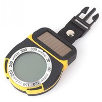 Wholesale Multifunctional Digital Altimeter Barometer Thermometer Compass Weather Forecast and Time Solar Power order lt no track