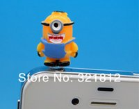 despicable dust stopper achat en gros de-Gros-Despicable Me Cartoon ME2 anti-poussière capuchon Stopper casque pour Samsung iphone 5C 5 3GS 4 4S tactile iPad 2 3 50pcs gros