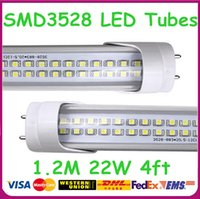 Cheap free shiping EMS DHL UPS 1.2m 22W SMD 3528 LED Tube,top quality T8 LED Tube Light,t8 Lamp, High light T8 fluorescent tubes