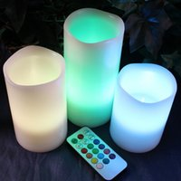 Wholesale HOT LED Flameless Remote Control Colors changing Led Candle Light Set Romantic Candle Lamp Wedding gift Christmas Decoration free ship