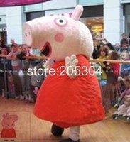 Taille adulte de haute qualité Pink Pig costume de mascotte Livraison gratuite