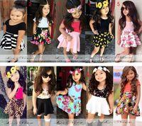 Cheap Dressed infantis Baby Girls Clothing Sets For Summer Girl's Skirt Set Children Clothe Kids clothes girls dressed de menina