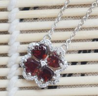 Wholesale Garnet necklace Real natural garnet Perfect jewelry Gemstone necklace Red gemstones Fine jewelry For women