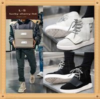 Wholesale Fashion Men shoe High Lovers shoes breathable Street dance Shoe Mens yee zy shoes Star with men Casual soft higher