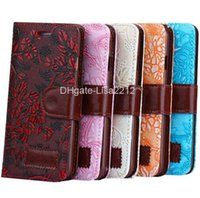 Wholesale For iPhone Brand new PU leather Grape Texture Horizontal Flip Leather Case with Card Slots Holder