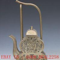 antique silver teapots - Old Antique Silver Copper Hand carved Kids Teapot