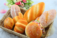 Wholesale 7 type MIXED rare soft squishy cm cm CM bread humberger croissant Coconut Home Decor