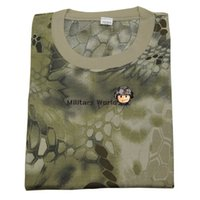 Wholesale Outdoor Sports Men Breathable Sweatproof Camo T Shirt Hunting Tactical Military Combat Army Durable T Shirt Short Sleeve HLD