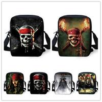 animal skull for sale - Hot sale children messenger bag for boy Pirates of the Caribbean print cross body bag skull mochila infantil schoolbags kid gift