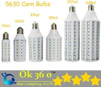 Wholesale Ultra bright Led Corn light E27 E14 B22 E40 SMD Corn Bulbs V W W W W W W W LM LED bulb degree Lighting Lamp