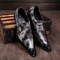 italian shoes - Crocodile Grain Mens Dress Shoe Design For Wedding Height Increasing Mens Leather Shoes Italian Brand Plus Size