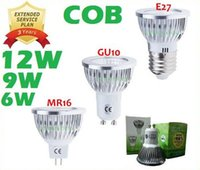 Wholesale CE ROHS CSA UL New COB W W W Led Spotlights Lamp Angle GU10 E27 E26 MR16 GU5 Dimmable Led Bulbs Warm Cool White AC V V