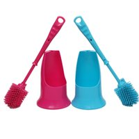 toilet brush - 2015 New Bathroom Cleaning Dup Duplex Strong Decontamination Toilet Brush Colors High Quality BZ679200
