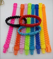 acrylic fasteners - Hot Candy Color Zip Fastener Bracelets Hot Sale Mix Color cm z163