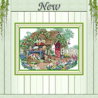 beauty cabin - Flower cabin forest beauty house diy painting counted print on canvas DMC CT CT kits Cross Stitch embroidery needlework Sets