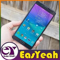 Wholesale Note Four N910F inch Cell Phone Fake G Lte MTK6582 Quad Core Android N4 Smart Phone Show G Ram G Rom G Unlocked Mobile Phone