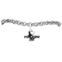 antique silver plated tea set - Alloy I Love TEA KWONDO Sport Charm Rolo Chain Bracelet A Message Link Chain Antique Silver Plated