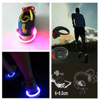 Wholesale 2015 new arrived Bike Cycling Sports Shoes Wrist Safety Signal plastic LED shoe Clips flash luminous Led Light Shoe Clip party decoration