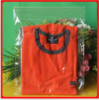 11x 15 pulgadas, 100PCS Bolsa de plástico transparente de bolsa de plástico de sello auto-adhesivo para envases de ropa, puede personalizado logotipo de impresión
