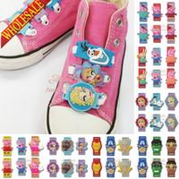 avenger accessories - 1000pcs Novelty F rozen Elsa Pink pig The Avenger shoe lace Shoe accessories pvc shoe buckle silicone laces christmas gifts