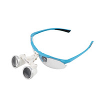 Wholesale Brand New Style Blue color X320mm Dental Medical Binocular Loupes Optical Glass Loupe LED Head Light Lamp