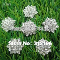 Wholesale EMS mm Clear Alloy Metal Buttons Spark Rhinestone Buttons For Decoration Accessory