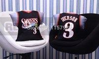 allen iverson team - New Arrival Philadelphia fan cushion pillow with team logo X40cm black basketball fan bolster Allen Iverson fans souvenir