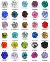 Wholesale Cheap mm Micro Pave CZ Disco Ball Crystal Shamballa Bead Bracelet Necklace Beads Rhinestone DIY Jewelry J863