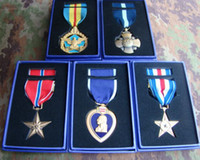 Wholesale The American metal badge Bronze Star Medal Pentagon Cross Medal Silver Star Beauty