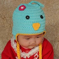 beanie babies chicken - Chicken Chick Knitted Hat Crochet Cartoon Animal Hat Newborn Toddler Knitted Hat Baby Boys Girls Kids Xmas Hat Winter Children Beanie Cotton