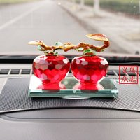 apple bargains - The best bargains crystal double Apple car perfume ornaments support mixed batch XS