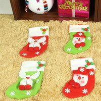 Wholesale 2015 Elf Bags Christmas Candy Bag Xmas wedding Party Supplies Christmas Decorations Socks Candy Bags free ship