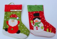 Wholesale Santa Claus Socks Snowman Scocks Christmas decorations Christmas gifts Christmas socks for children hot selling