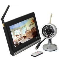 av baby - 7 Inch TFT LCD GHz Wireless Baby Monitor with Night Vision Wireless Outdoor Camera AV OUT