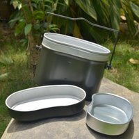 Wholesale Aluminum lunch box lunch box High temperature resistant containers three piece outdoor lunch box lunch boxes