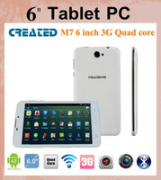 Wholesale android tablet gb ram android tablet CREATED M7 inch android Quad core tablet pc G WCDMA bluetooth GPS dual cameras dual sims PH007