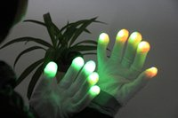 Wholesale LED light glows glove Party and Valentine s Day Occasion flashes in darkness or daytime with different colors