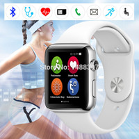 Wholesale New Bluetooth IWO Smart Bluetooth Watch large capacity Waterproof Phone Heart Rate Monitor MTK2502C Mhz quot