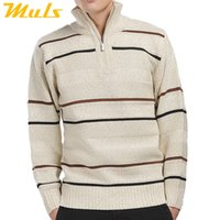 big and tall sweaters - Sueter men pullover casual turtleneck striped military sweater polo zipper wool mens big and tall sweaters man most popular