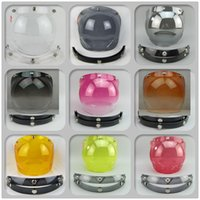 Wholesale capacete casco vintage retro motorcycle helmet snap bubble shield visor shield glass open face helmet glasses