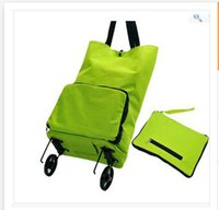 Cheap Wholesale Portable Fashion tug package Folding shopping bag shopping cart Trolley case wheels car Best Gift for Mom Frozenc1078 100pcs