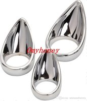 Wholesale new stainless steel anal and ball toys cock rings dildo rings bondage chastity devices sex toys for men SM201