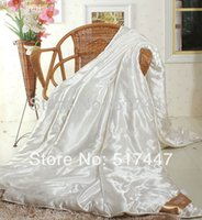 Wholesale Duvet Quilted Bedspreads winter ice Silk Quilt ecological silky silk Queen King twin size home hotel comforter blanket