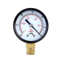 Wholesale Mini Dial Air Pressure Gauge Meter Vacuum Manometer Double Scale Pressure Measuring Instruments inHg bar