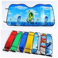 Wholesale Car Sunshade Sun shield CM Foldable Car Auto Mix Color shield Sun shade Cover for Front Back Car Sun Block Sun Visor
