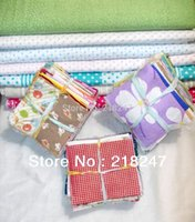 Wholesale pieces cm cm Beautiful Fabric Stash Cotton Fabric Square Patchwork Fabric No Repeat design free gift