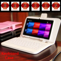 Cheap 100pcs Micro USB Interface Leather Keyboard Case for 7 inch Universal Tablet PC Cover for 8 9 9.7 10 10.1 Inch Q88 A33 Tablet
