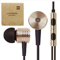 Wholesale Xiaomi piston in ear earphones noise cancelling headphones in ear stero mobile earphone with remote Mic for Samsung HTC iPhone etc